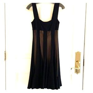Black Dress with nude lining